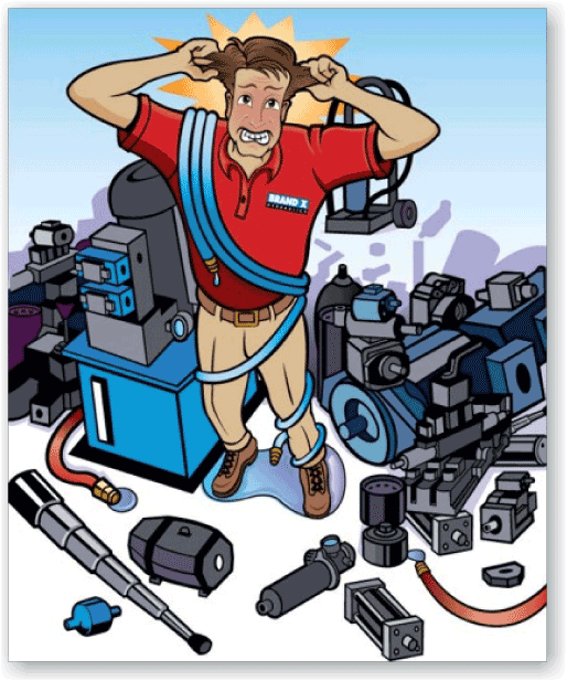 White Hydraulics Ad Illustration